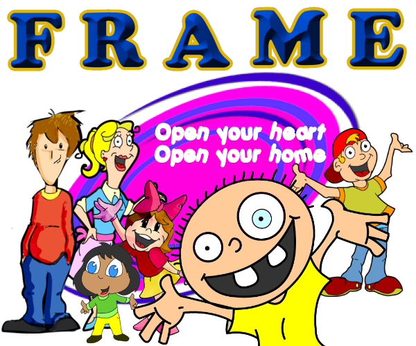 FRAME OPEN YOUR HEART HOME